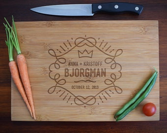 Personalized Wooden Cutting Board /Cheese Board/Serving Tray for Anniversary, Wedding Gifts