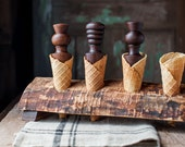 Waffle Cone Roller - Sugar Cone Roller - Pizzelle Cone Roller - Homemade Ice Cream Cone Coronet - Wood Krumkake Roller