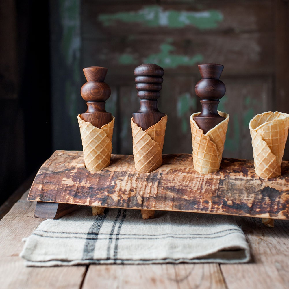 Waffle Cone Roller Sugar Cone Roller by CattailsWoodwork on Etsy