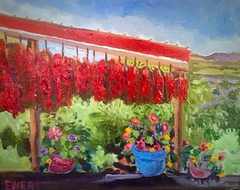 Chili Harvest - fine art oil on canvas - small