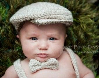 Baby Boy Irish Scally Hat, Baby Boy Hat, Newsboy Baby Boy Hat, Bow Tie, Newborn Baby Boy, Golf, Drivers, Jeff, Flat Cap, Baby Boy Photo Prop