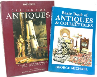 "Antiques & Collectibles Reference Books - Set of 2 - ""Basic Book of Antiques and Collectibles"" and ""Sotheby's Caring for Antiques"""