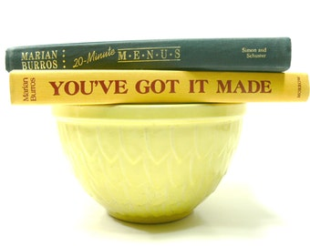 "Vintage Cookbooks - ""You've Got it Made"" and ""20-Minute Menus"" by Marian Burros - First Editions"