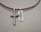 Mens Cross Necklace - Mens Cross Jewelry - Cross Pendant - Gifts for Him - Gift for Men - Custom Necklace - Father's Day Gift - Cross Charm