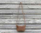 MINI Cross Body Bag // Waxed Canvas // Leather Strap // Messenger Bag // SAHARA