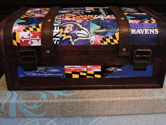 Ravens Man Cave Ideas : Maryland flag baltimore ravens man cave decoupage trunk