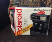 Polaroid OneStep close up camera with box RESERVED FOR Chandler Williams until 11-22-15