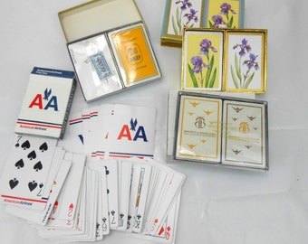 vintage playing cards American Airlines advertising media double deck playing cards