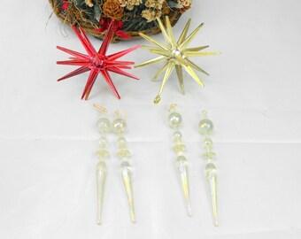 vintage sputnik Christmas ornaments vintage unbreakable ornaments vintage atomicChristmas ornament space age ornaments sci fi ornaments
