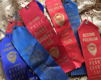 8 1940s Fair Ribbons From Perry Missouri That Take The Prize
