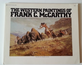 Western Books, WesternDecor,Cowboy Books, Old Hardcover Books, Old Books For Sale, Cowboy,  The Western Paintings of Frank McCarthy
