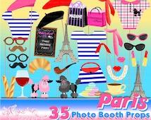 Paris photo booth props, Paris birthday party, Paris Party, France Birthday, Party photo booth props, Printable- INSTANT DOWNLOAD