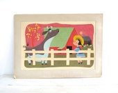 Vintage Colorful Collage - Children's Room - Large Kids Wall Art