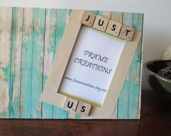4x6 Just Us Themed- Hand Decorated Picture Frame