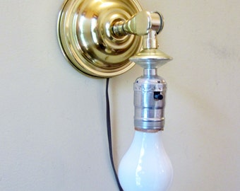 Vintage Wall Light Sconce Portable with PIVOT Set of 2