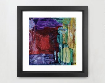 Vibrant Abstract Print 11x11 (without Mat)