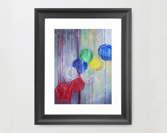 Vibrant Abstract Print 11x16 (without Mat)