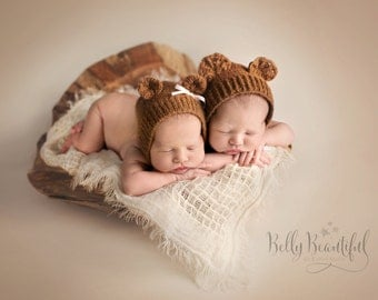 Bear Bonnet Crochet Pattern - All Newborn, Baby, and Toddler Sizes Included - Instant Digital Download