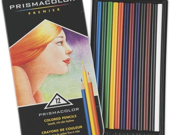 Prismacolor Premier Colored Pencils - Artist Quality - High Quality Pigment - Rich Colors - 12 Piece Set (407057)