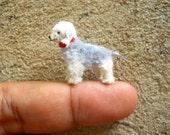 Bedlington Terrier - Tiny Crochet Miniature Dog Stuffed Animals - Made To Order