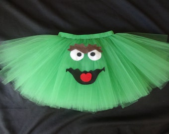 Oscar the Grouch tutu, custom made up to a size 4t