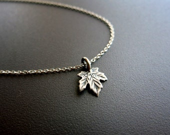 Maple Leaf Necklace in Sterling Silver