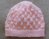 Babies 4ply lace Beanie, PDF knitting pattern - Molly
