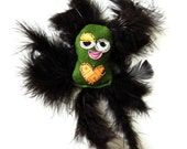 Cat Toy with Feathers, Organic Catnip & Crinkle Crunch - Sweething by Fugly Friends