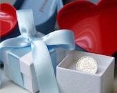 Lucky Sixpence Bow Tied Wedding Gift Keepsake