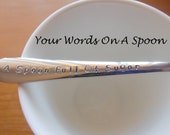 Custom Hand Stamped Spoon x1,Custom spoons,tea spoon,parfait spoon