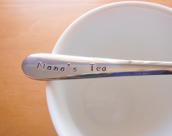 Nana Gift,Nanna Gift,Grandmother,Granny,Grannie,Gift for Her, Mothers Day Gift,Tea,Hand Stamped Teaspoon
