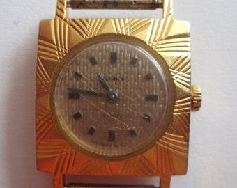 CHAJKA Chaika Soviet Russian wrist watch AU12.5 Gold plated Ladies USSR