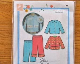 Bonnie Blue Designs Jillian Girls Jacket and pants Pattern SALE