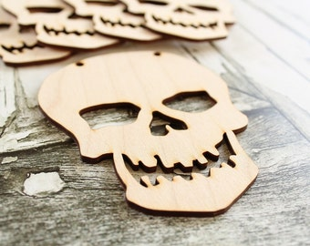 Skeleton Banner Unfinished Wood Skeleton Banner DIY Halloween Banner Rustic Halloween Banner