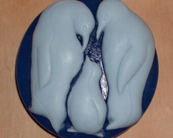 Penguin Soap ~ Penguin Family Soap ~ Blue Soap ~ Sparkling Snowflake Fragrance ~ Goats Milk Soap ~ Glycerin Soap ~ Baby Penguin Soap