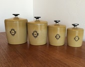 Mustard Colored West Bend Canister Set