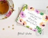 Water Rose Peach Lavender Floral Will you be my Bridesmaid card, bridesmaid proposal, bridesmaid invitation, wedding party card, bridal card