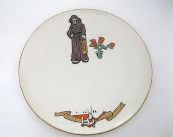 Lenox Belleek Plate Monk Flowers Monastery