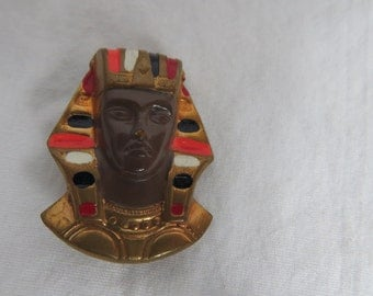 Antique Stamped Metal Egyptian Revival Jewelry Mummy or King Tut Piece Finding