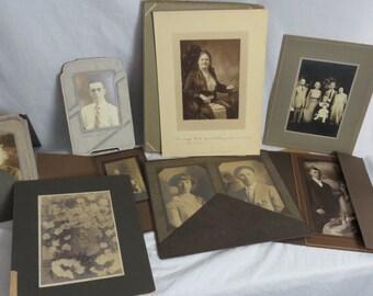 Lot of Originial Cabinet Card Photos Studio Photographs  Box K
