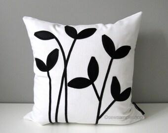 White Design Pillow Case: Black white pillows   Etsy,