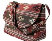 Hippie Hobo Messenger Bag Hmong Camera Purse Handbag Boho Thai Sling Canvas Cotton - IKM30