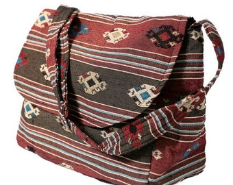 Hippie Hobo Messenger Bag Hmong Camera Purse Handbag Boho Thai Sling Canvas Cotton - IKM30