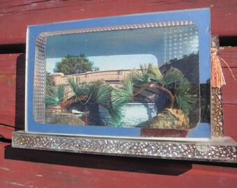 Vintage Postcard Shadow Box Display Case