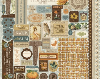 "Authentique Paper Collection ""Nestled"" 12x12 Sticker Sheet"