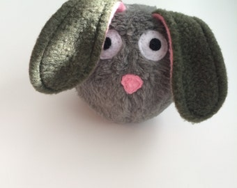 Dust Bunny - Squeaky Dog Toy - Army Green