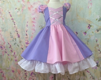 Rapunzel Tangled girls princess dress