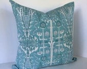 Ikat Decorative Pillow Cover in Lacefield Bombay Mist