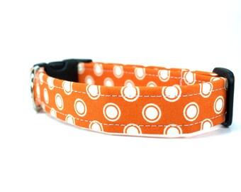 Dog Collar | Orange Dot Dog Collar | Polka Dot Dog Collar | Orange Dog Collar | Girl Dog Collar | Boy Dog Collar