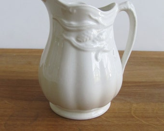 Ironstone Creamer--Royal Crownford Ironstone--Vintage Inrostone